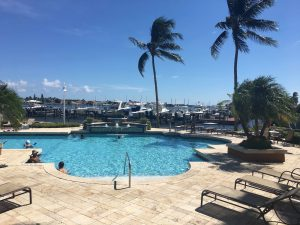 The Pool at Yacht Club on the Intracoastal also known as The Yacht Club Hypoluxo and Intracoastal Yacht Club is a beautiful condominium community with resort style amenities right on the Intracoastal waterway in Hypoluxo Florida.